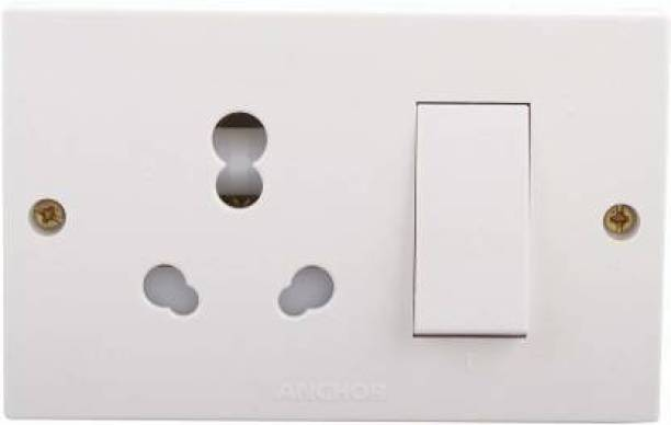 ANCHOR Polycarbonate 20 Amp Penta Combined Box 20 A Three Pin Socket 16 A Three Way Electrical Switch