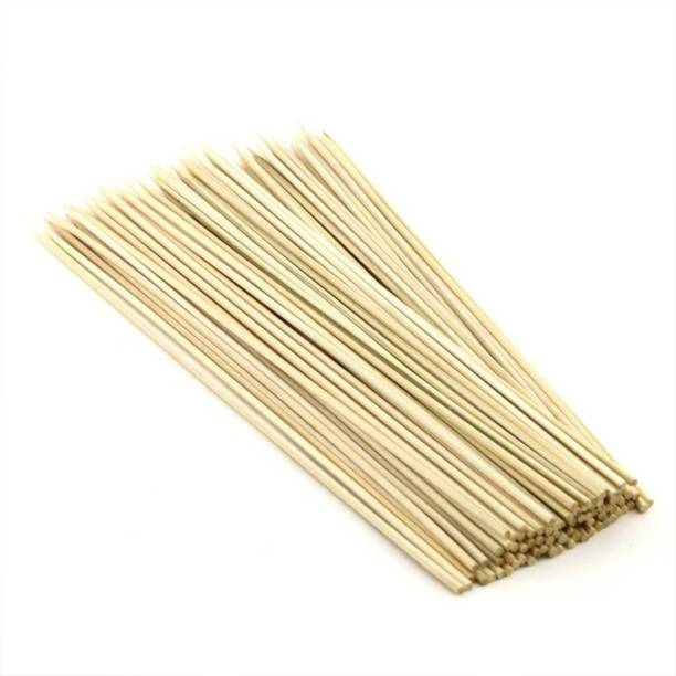 flex FLEX Hygiene Bamboo Wooden Barbecue Skewers Sticks for Oven, Microwave and Pan, BBQ Skewer, Kabab Sticks || 8 inches 3mm Disposable Bamboo Roast Fork Set