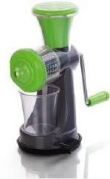 nextstep Plastic Hand Juicer MINI ABS Plastic Hand Juicer for Fruits Manual Juicer Machine for Fruit and Vegetables for steel handel (Green With Grey Pack of 1)