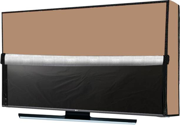 JM Homefurnishings Two layer dust proof LED LCD TV cover for 43 inch Comuter Monitor::TV::LCD  - LEDplnbeige43IN