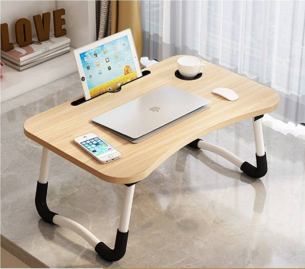LIMERENCE Foldable Wooden Laptop Desk for Bed Wood Portable Laptop Table