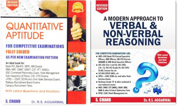 Modern Approach To Non Verbal Reasoning A Modern Approach To Verbal Reasoning Quantitative Aptitude For Competitive Examinations - Quantitative Aptitude R.S Agrawal, S.Chand, ( BUY FROM TRUEMAN BOOKS AND GET FREE INDIA GK )