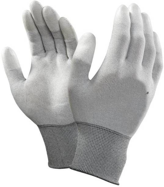 TECHOMANIA ESD HAND GLOVES USE PHONE TOUCH SCREEN AND WASHABLE GLOVES Nylon  Safety Gloves