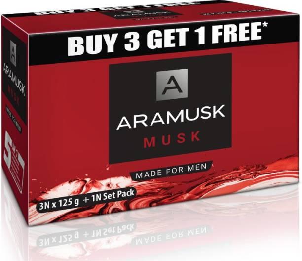 Aramusk Musk Soap, 125g(Buy 3 Get 1 Free)