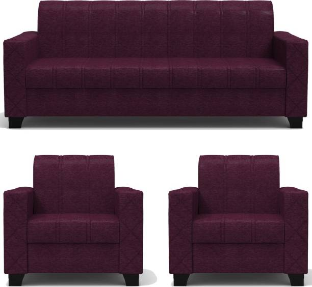Rajgarhwala Furnitures RF 806 Fabric 3 + 1 + 1 Maroon Sofa Set