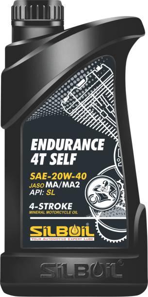 silboil Endurance 4T 20W- 40 API SL Jaso MA-2 Full-Synthetic Engine Oil