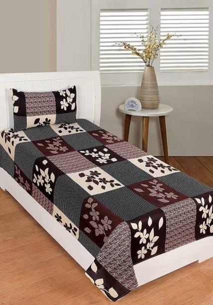 Nawabs Creation 180 TC Polycotton Single Checkered Bedsheet