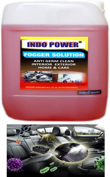 INDOPOWER F011- FOGGER SOLUTION Anti Germ Clean (Interior Exterior Home & Cars ) 10ltr.