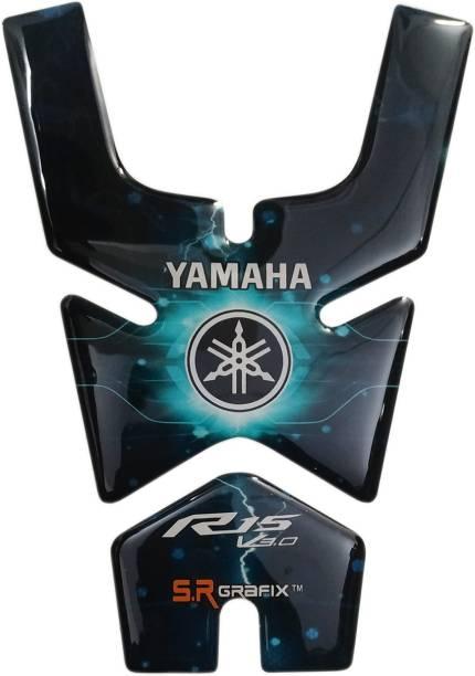 S.R Grafix R15 V3 Ice Blue Bike Tank Pad