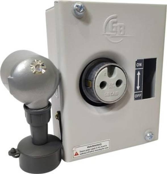 GBCAB 20A SINGLE POLE AC BOX WITH PLUG AND SOCKET Distribution Board