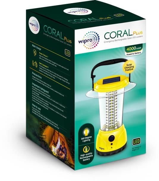 WIPRO Coral Plus Rechargable Solar LED Lantern Lantern Emergency Light