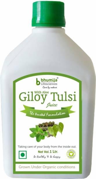 Bhumija Lifesciences Giloy Tulsi Juice (Sugar Free) Energy Drink