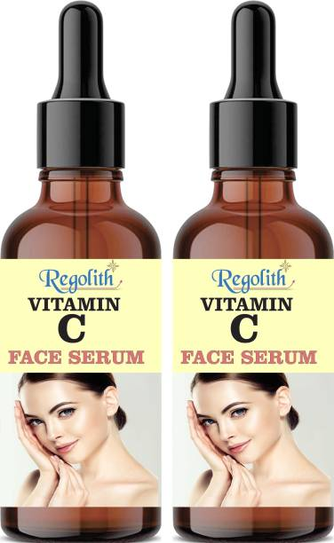 Regolith 20% Vitamin C + E Serum for Face with Hyaluronic Acid For Anti Ageing, Anti Acne & Skin Brightening