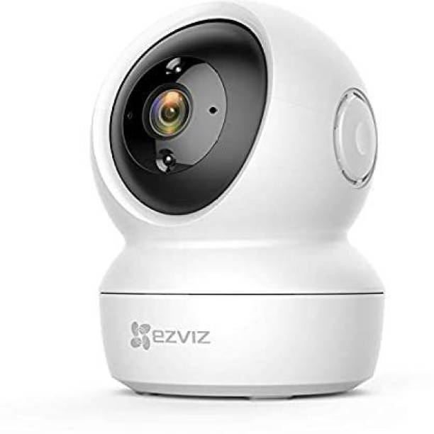 Ezviz EZVIZ by Hikvision C6N Wireless Full HD 360? View Pan Tilt Indoor Home Camera with Night Vision  Motion Alert on Mobile  256 GB Slot  Two Way Audio  Sleep Mode (White) Security Camera