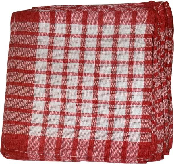 Mohprit Kitchen Napkin, Roti cover Set Of 5 Red Color Red, White Napkins