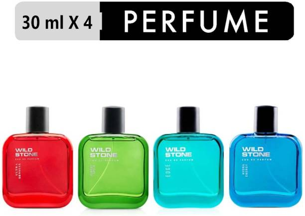 Wild Stone Edge, Forest Spice, Hydra Energy & Ultra Sensual Perfume Combo pack of 4 ( 30 ml each) Eau de Parfum  -  120 ml