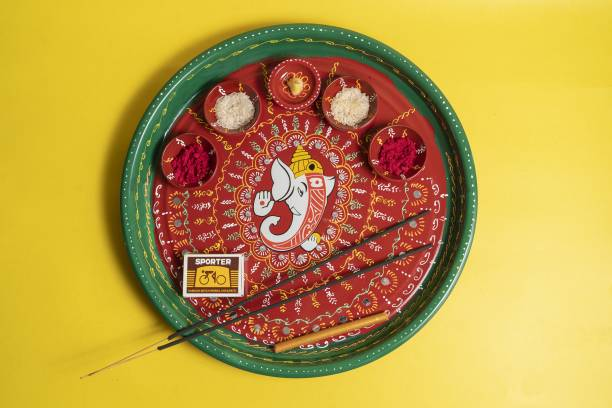Aurum Decorative fancy Pooja Thali Stainless Steel