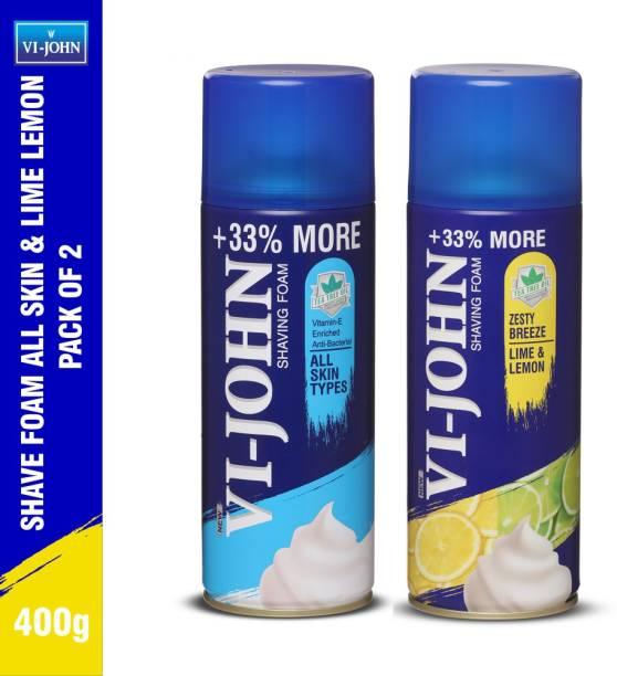 VI-JOHN Shaving Foam All Skin Types & Lime & Lemon combo