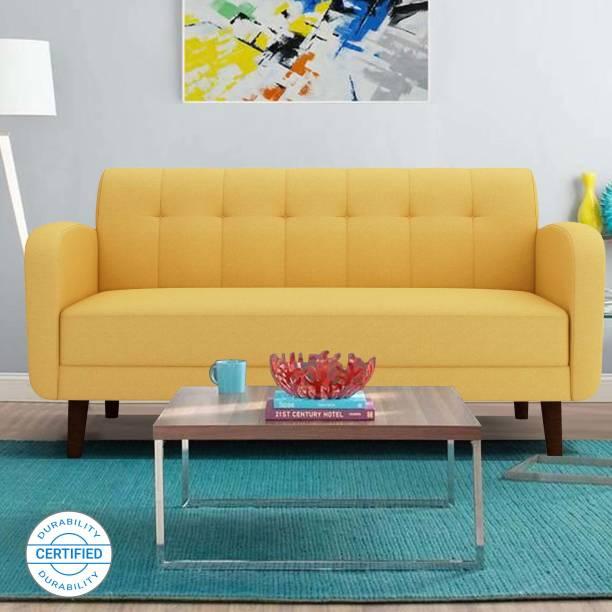 ARRA Rome Tufted Back Fabric 3 Seater  Sofa