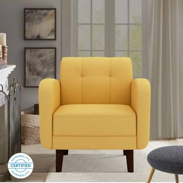 ARRA Rome Tufted Back Fabric 1 Seater  Sofa