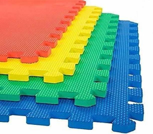 Draven Interlocking Flooring Mats for Yoga/Exercise/Kids Play(16 Sq. ft) 4 Tiles Multicolor 12mm mm Exercise & Gym Mat