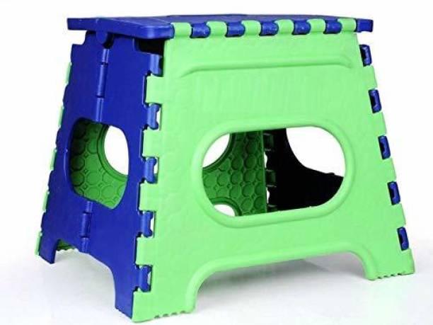 Citymegastore 12 Inch Space Saving Plastic Fold-able Step Stool Kitchen Stool (Green) Bathroom Stool