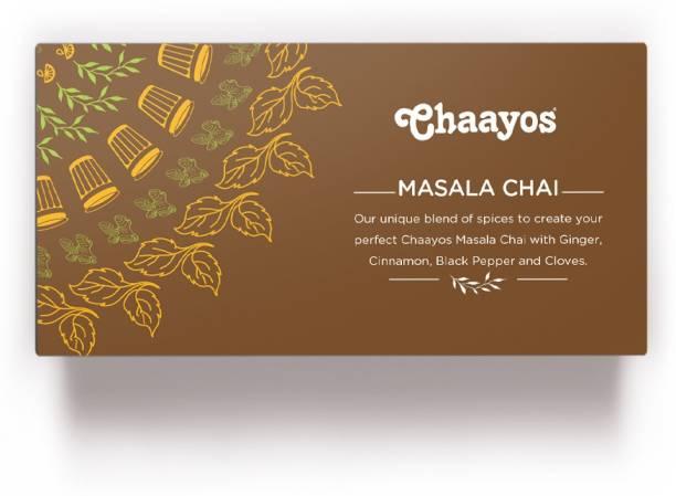 Chaayos Premium Masala Tea Bags with 100% Natural Spices (Ginger, Cinnamon, Black Pepper, Cloves) Tea Bags Box