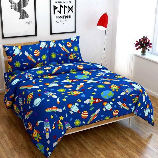 Monika 127 TC Polycotton Double King Printed Bedsheet