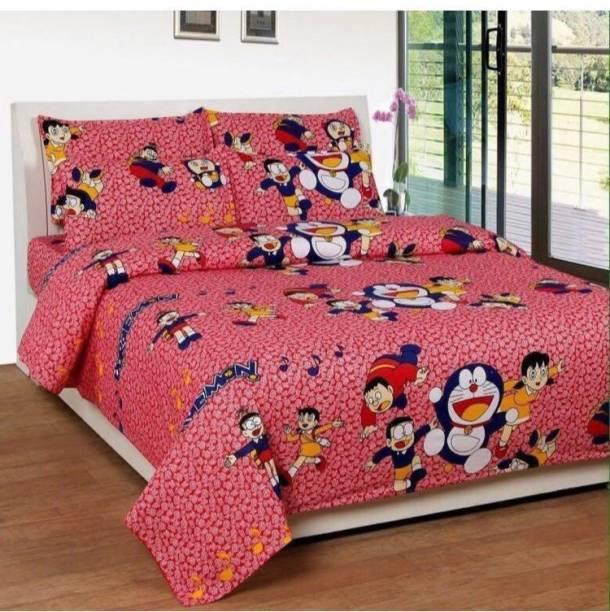 Monika 154 TC Polycotton Double King Cartoon Bedsheet