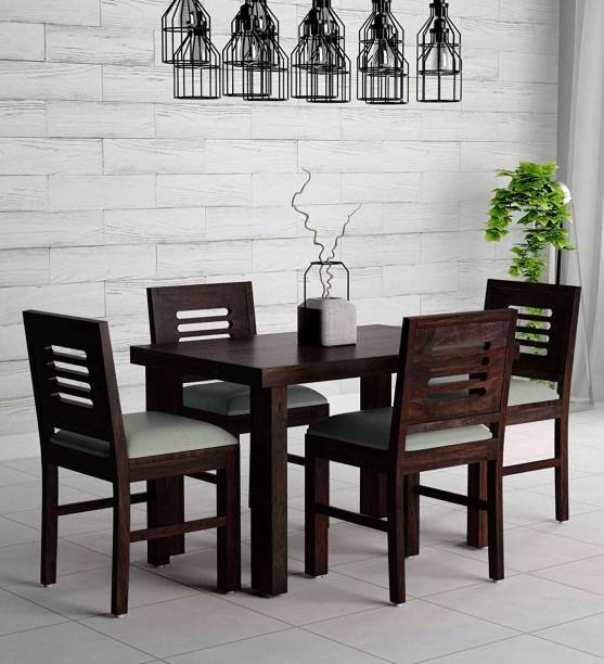 MAHIMART AND HANDICRAFTS Solid Wood 4 Seater Dining Set