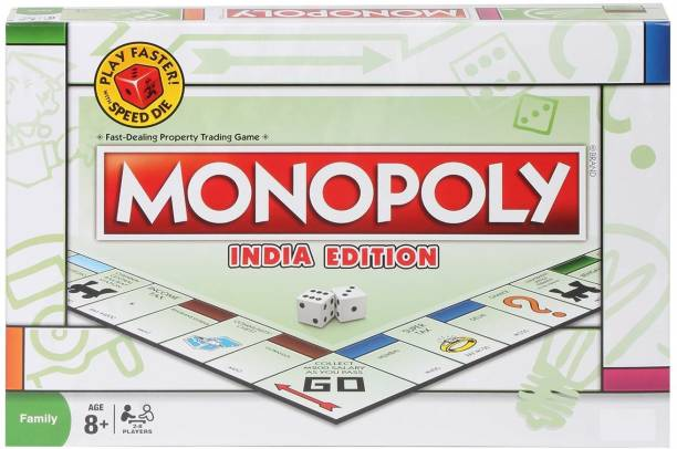 Mt hub Monopoly India Edition Family board game for 2 or 4 player Educational Board Games Board Game Party & Fun Games Board Game