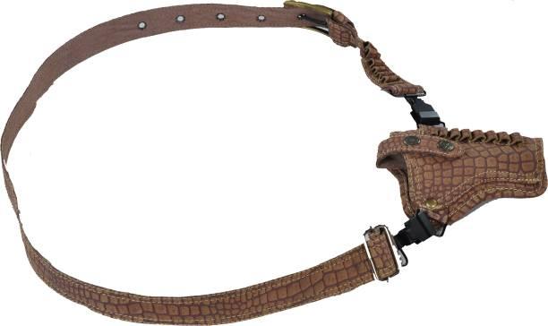 Schieben Innovations Croc Print Leather Holster Belt Type Racquet Carry Case/Cover, Pistol/Gun Cover Free Size