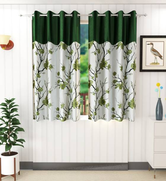 Ville Style 152 cm (5 ft) Polyester Window Curtain (Pack Of 2)