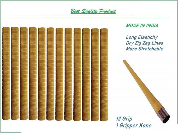 VSM Golden Color Most demandable Product Handle Bat Grip 12 Grip and 1 Gripper Kone Dry Feel