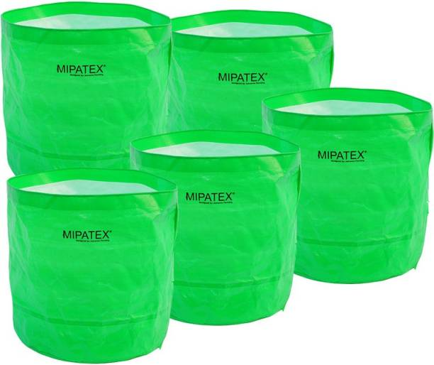 Mipatex Woven Fabric Grow Bags 24in x 24in, Heavy Duty Plant Pot Fruits Vegetable, Terrace Home Kitchen Gardening Bags (Pack of 5) Grow Bag