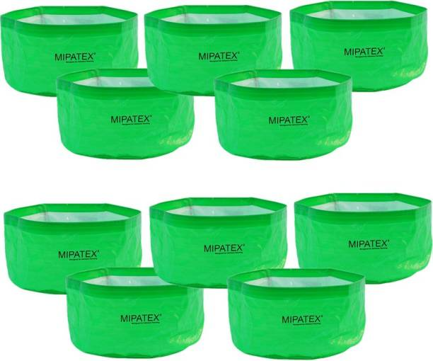 Mipatex Heavy Duty Plant Pot Fruits Vegetable, Terrace Home Kitchen Gardening Bags (Pack of 10) Grow Bag
