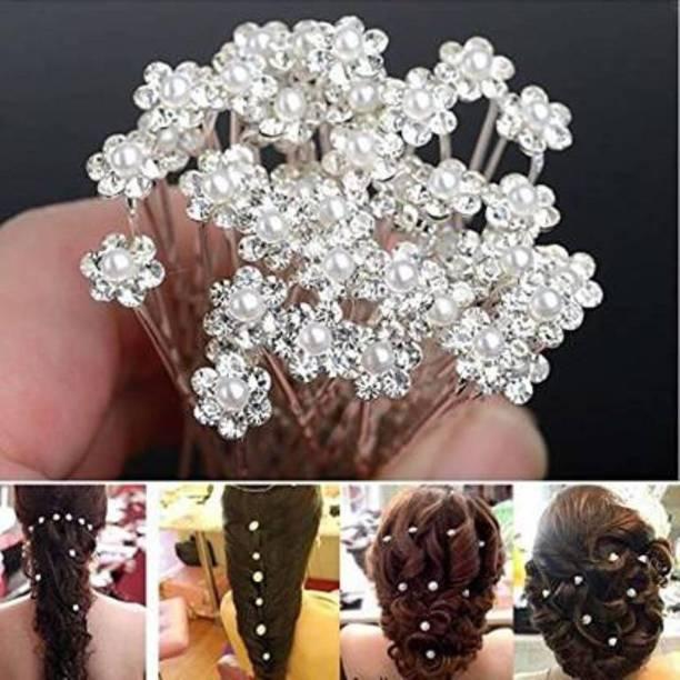 Duggu Bridal Hair Bun Pin Accessories/Fancy Golden Juda Pins Braid Extension