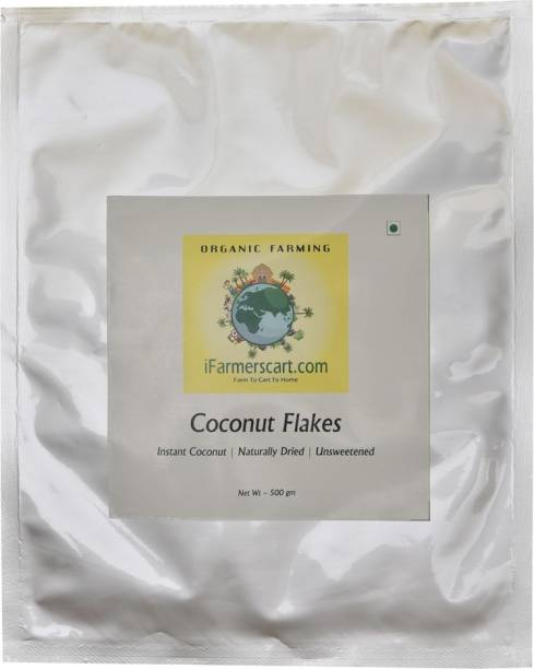 iFarmerscart Coconut Flakes | Instant Coconut For Cooking Coconut
