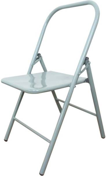 THE EMPORIUM HEALTH Streetup India Iyengar Backless Chair & Meditation Chair for Yoga (Grey) Metal Outdoor Chair