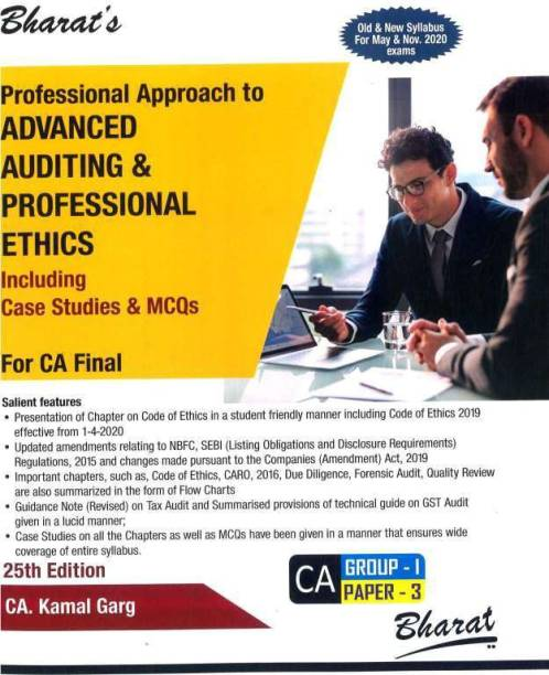 CA Final Professional Approach To Advanced Auditing & Professional Ethics Old And New Syllabus By Kamal Garg Applicable For May / November 2020 Exam