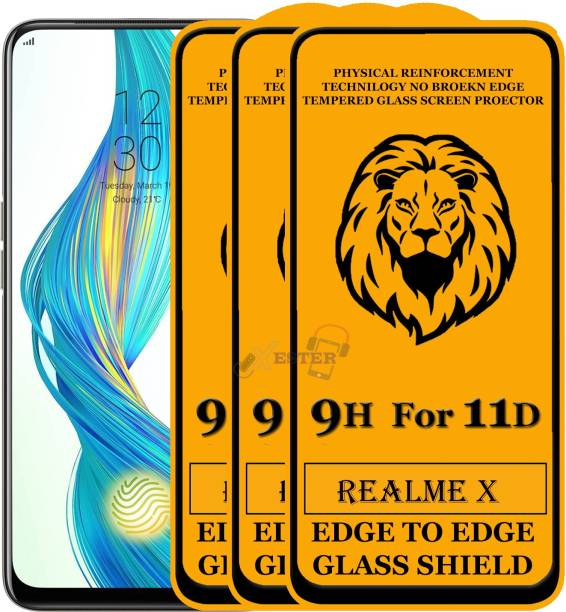 Xester Edge To Edge Tempered Glass for Realme X