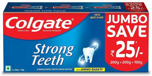 Colgate Strong Teeth Anticavity with Amino Shakti - 500 g Saver Pack Toothpaste