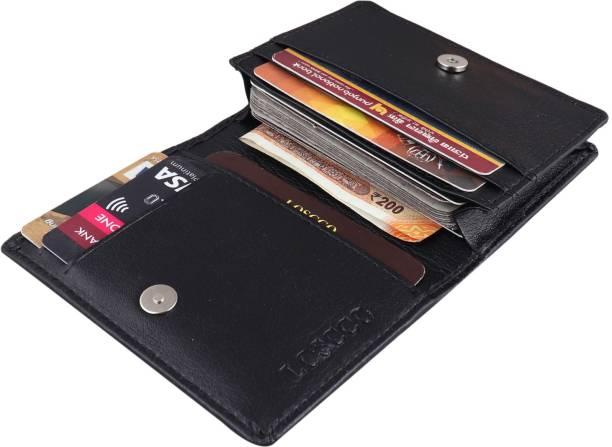 loscco Men Black Artificial Leather Card Holder