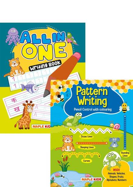 All in one - Alphabet, Varnmala and Numbers, Pattern Writing - Pencil Control (Set of 2 books)