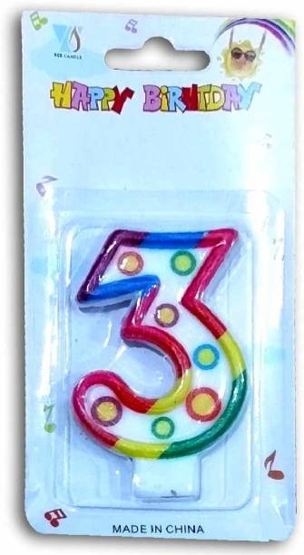 Shopperskart Happy birthday/anniversary cake decorations number Candle