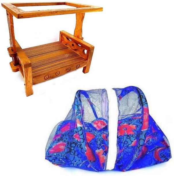 krishnagallery1 Laddu Gopal bed Wooden Net & Cotton Net Bed Super Soft Laddu Gopal Bed Wooden Pooja Chowki