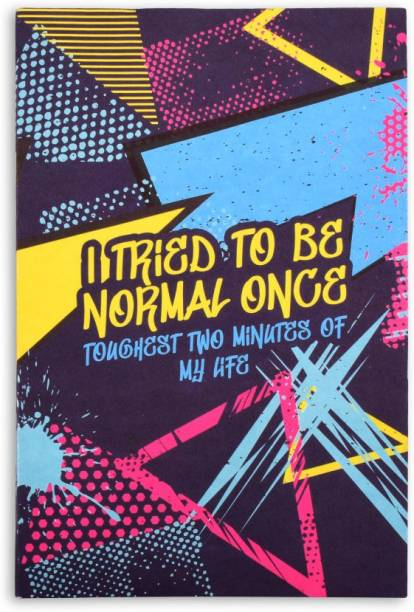 doodle Normal is Boring Notebook A5 Notebook Ruled 160 Pages