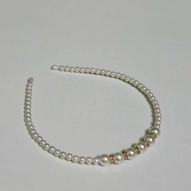 ODUZEE Pearls Hairband for Girls and Women Hair Band. Hair Band