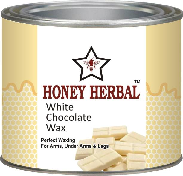 HONEY HERBAL Best Chocolate wax for Soft waxing on arms,legs and under arms( white chocolate 600gm) 600 gm Wax