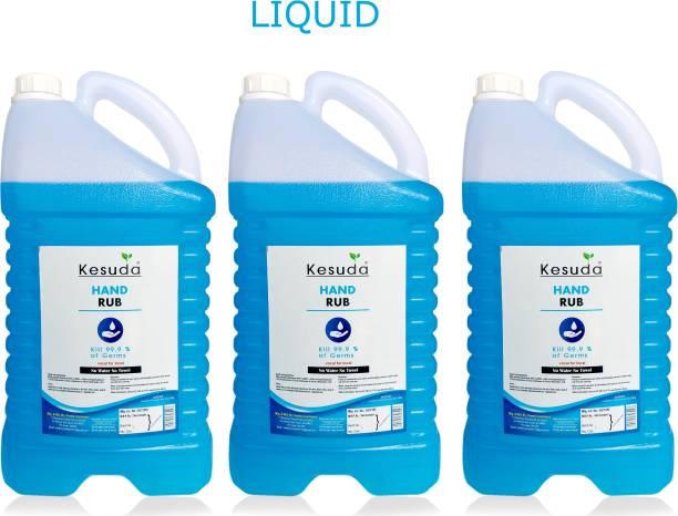 KESUDA 3pcs of 5 Liter Hand Rub (LIQUID ) (5L+5L+5L) Hand Rub Can